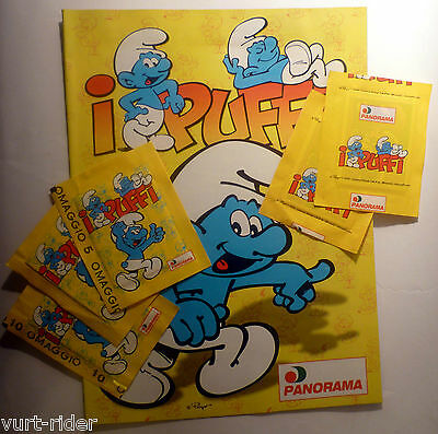 PANORAMA Schtroumpf Smurf Schlumpf PUFFI stickers -bustina sigillata sealed pack
