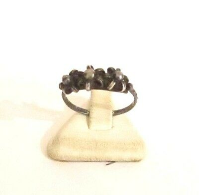 Vintage Excellent Early 20Th Century Silver Ring With Nice Filigree # 773