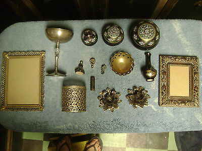 VANITY LOT #8~ALL VINTAGE/ANTIQUE~LOTS of BLACK and METAL~FUN STUFF!