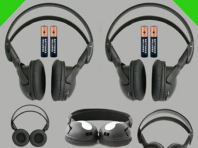 2 Wireless DVD Headsets for Honda Odyssey : New Headphones Premium Sound