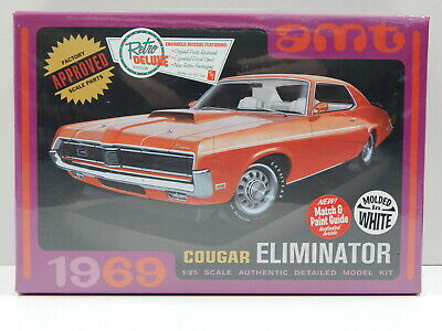 1:25 1969 Cougar Eliminator - Molded in White AMT AMT898
