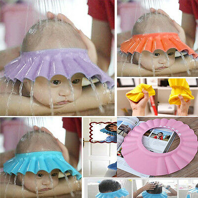 Safe Shampoo Shower Bathing Bath Protect Adjust Soft Cap Hat For Baby 1-4 years