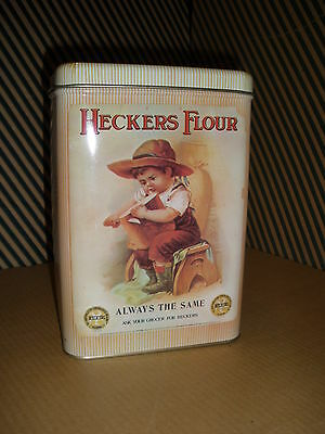 VINTAGE RARE HECKER'S FLOUR CANISTER TIN - NEW - ORIGINAL MAIL-IN FORM