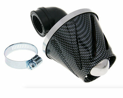 Baotian BTM BT50 BT49QT-9 50cc Speedy Helix Power Air Filter 28-35mm Carbon