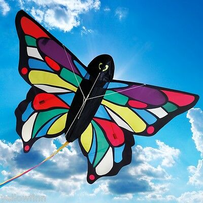 Childrens Butterfly Kite by BROOKITE Tropical Butterfly Toy Kite 3D Design