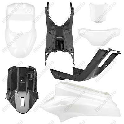 Kit 4 Fairings Shields Body Kit Shiny White + 3 Unpainted Mbk Booster 50 '04/'15