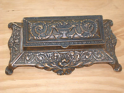 Antique Victorian Desktop Stamp Box Museum Collectable Quality