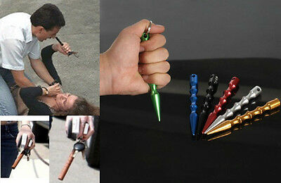 AU BU Aluminum Alloy Pen-shaped Kubaton Stick Keyring Self-defense Supplies