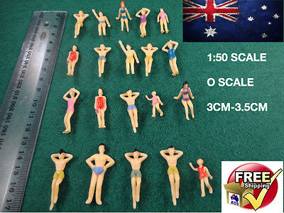 20 O Scale 1:50 Beach Pool Figures Little People Locomotive Model Trains Scenery