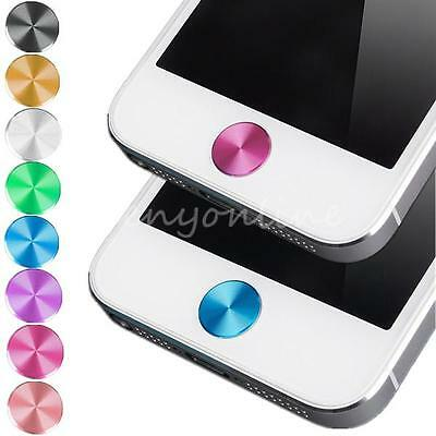 2pcs Aluminum Home Button Sticker for Apple iPhone 4 4S 5 5C iPod Touch iPad CIT