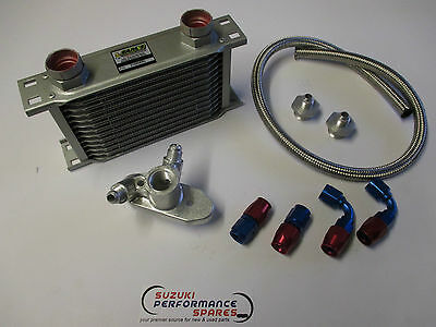 Suzuki GS750  Oil Cooler Kit.c/w cooler, genuine Earls fittings/hoses