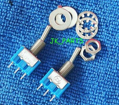 10pcs NEW Mini MTS-102 3-Pin SPDT ON-ON 6A 125VAC Toggle Switches