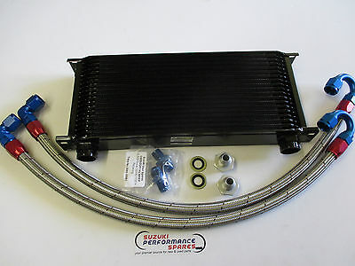 Suzuki GSXR750 J K 88/89 Genuine Earl's Oil Cooler and Earl's Lines and Fittings