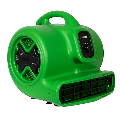 XPOWER X-600A 1/3 HP Commercial Grade Air Mover Carpet Dryer Fan w GCFI Outlets