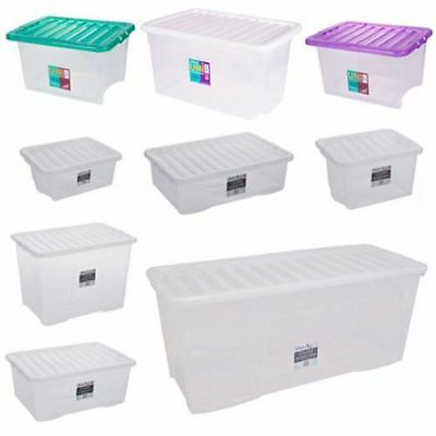 Large Plastic Storage Boxes 8 49 Picclick Uk