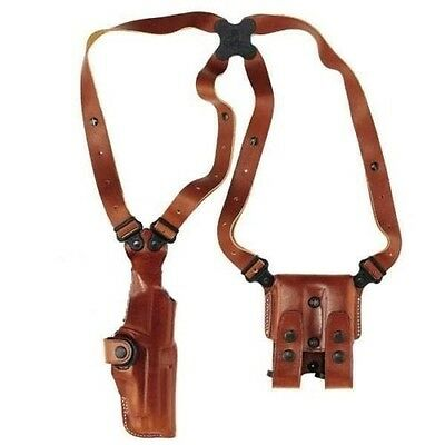 """Galco Tan Right Hand Vertical Shoulder Leather Holster S&W 4"""" N Frame VHS126"""