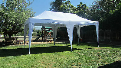 10x20 EZ Pop Up Canopy Tent Instant Shelter Canopy Folding Tent Outdoor Canopy