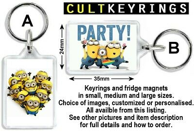 Fast Postage MD KR 1 Despicable Me Red Swimsuit Minion Keyring