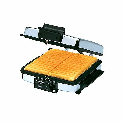 Waffle Maker Breakfast Belgian Commercial Grill Kitchen Griddle Bake Crepe Iron