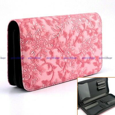 Rose Hair Salon Barber Hairdressing Scissors Storage Pouch Bag Case Double Layer