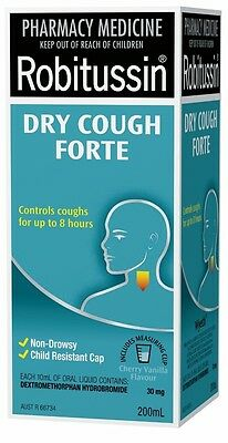 GENUINE Robitussin Dry Cough Forte 200mL