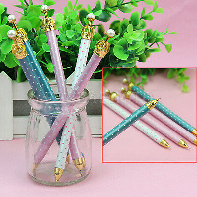 5pcs Cute Kids Student Stationery Princess Crown Mechanical Propelling Pencil