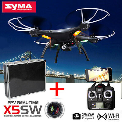Syma X5SW Explorers-II WIFI 2.4G RC Quadcopter Drone W/Luxury Carrying Case Box