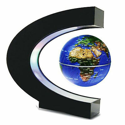 C shape LED World Map Floating Globe Decoration Magnetic Levitation Light Nice