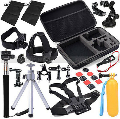 30in1 Head Chest Mount Strap For GoPro Hero 3 3+ 4 5 Camera Accessories Set Kit