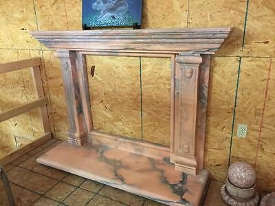 Beautiful Hand Carved Marble Estate  Fireplace Mantel  - Jd18