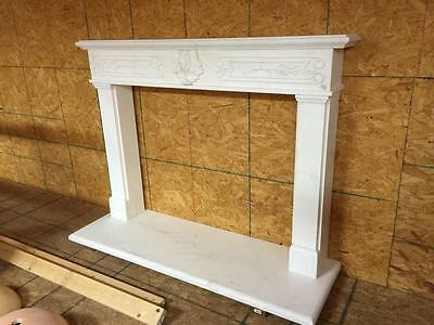 Beautiful Hand Carved Marble Estate  Fireplace Mantel  - Jd20