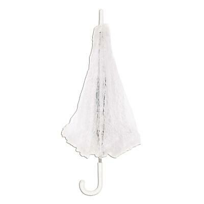 ladies white lace parasol fancy dress umbrella victorian