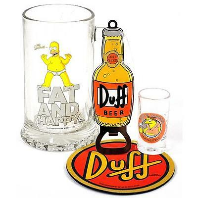 The Simpsons - Duff Beer 4 Piece Gift Set - New & Official 20th Century Fox