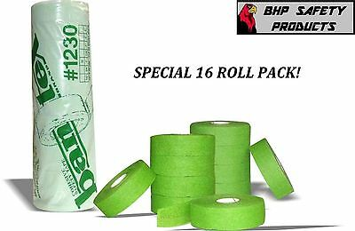 "COHESIVE GAUZE FINGER TAPE GREEN 3/4"" X 30 Yd. BANTEX #1230 SAFETY (16 ROLL PK)"