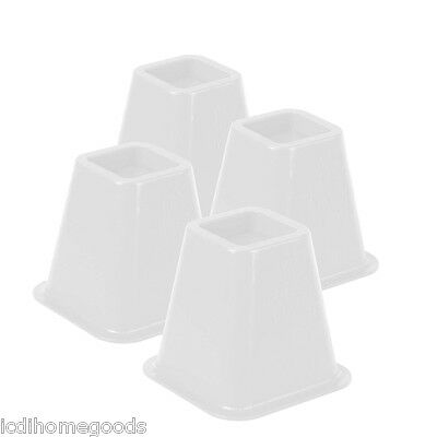 4-Pack White Bed Risers # STO-01876