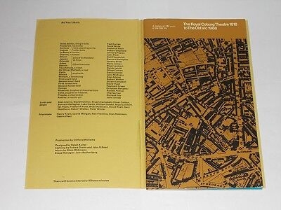 National Theatre Programme 1968 As You Like It. William Shakespeare.