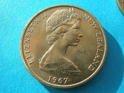 1967 New Zealand 20 Cent Uncirculated from a Mint Set. [Ordinary Uncirculated]