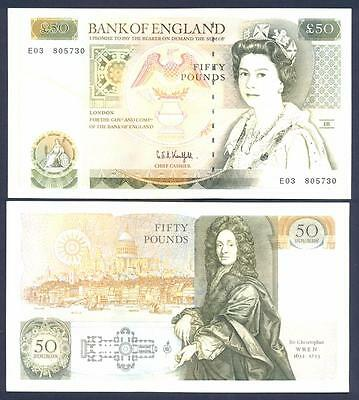 GREAT BRITAIN 50 Pounds 1981-93 XF+ P 381 c