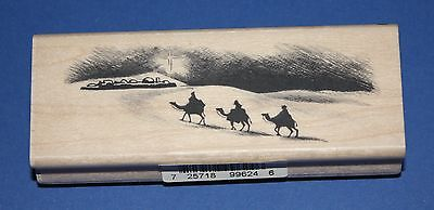 NEW Inkadinkado 'Three Kings' Christmas Wooden Backed Rubber Stamp 99624DD