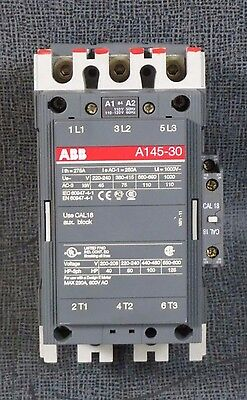Abb Contactor # A145-30 250 Amp, 600 Vac, 120V Coil, 125 Hp, 3 Phase *spiffy*