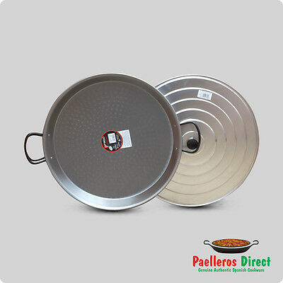 Authentic Spanish Lidded Paella Pan - 50cm Pan with 50cm Lid
