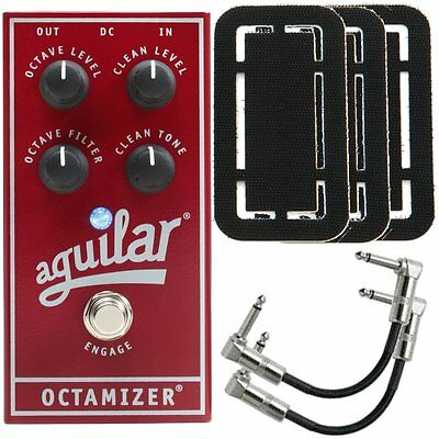 Aguilar Octamizer Analog Octave Bass Effects Pedal + Patch Cables + Fasteners