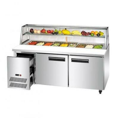 Refrigerated Prep Bar, 2 Door, 1480mm, Pizza / Salad / Sushi PANS NOT INCLUDED