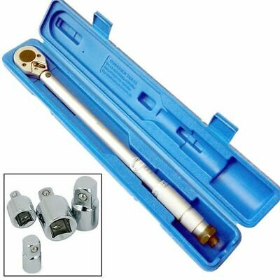"1/2"" Dr 30-154 Ft/lb Torque Wrench Iso With Case + 4Pc Adaptor Reducer Set"