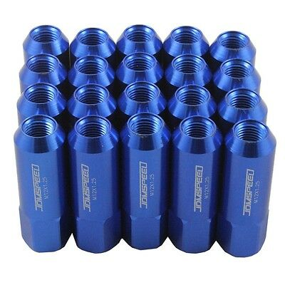 Jdmspeed Blue 20Pc 12X1.25Mm 60Mm Extended Forged Aluminum Tuner Racing Lug Nuts