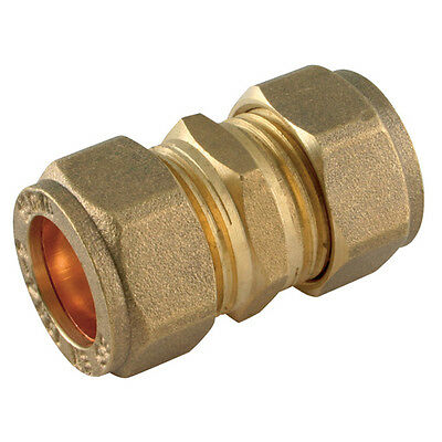 06MM Compression Fitting - Equal Metric Straight Coupler Brass