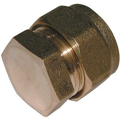 12MM Compression Fitting - Stop End Brass