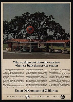 1965 UNION 76 - Oil Company Of California - Gas Station - VINTAGE AD
