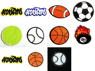 Sport Muaythai Soccer Basketball Rugby Embroidered Sew / Iron On Patch Appliques