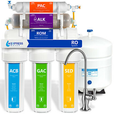 10 Stage 50GPD Reverse Osmosis Alkaline PH mineral Water Filter System - ROALK5D